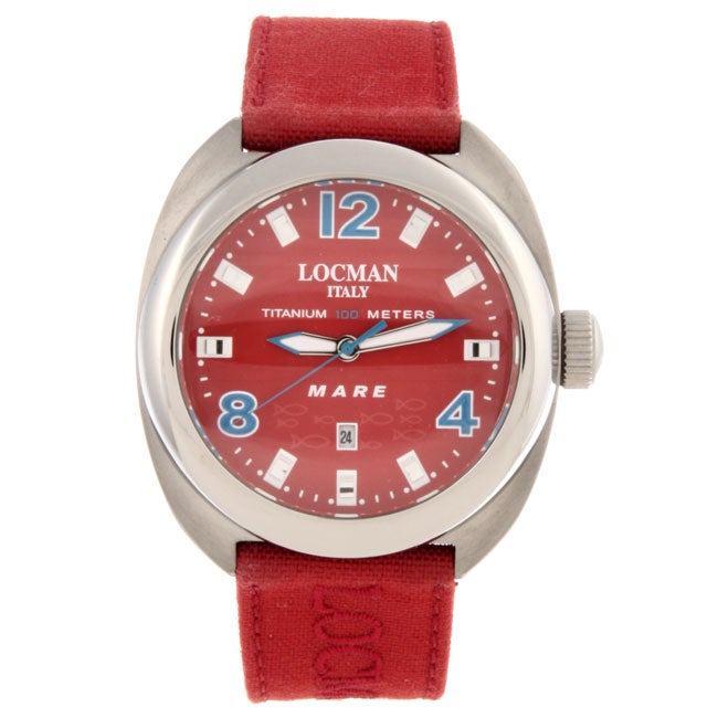 Locman Men's Mare Collection Titanium Red Watch