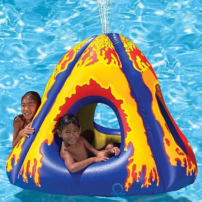 Poolmaster Erupting Volcano Island Inflatable Waterpark ...