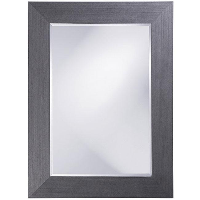 Peter Gunmetal Grey Wood Frame Mirror - Free Shipping ...
