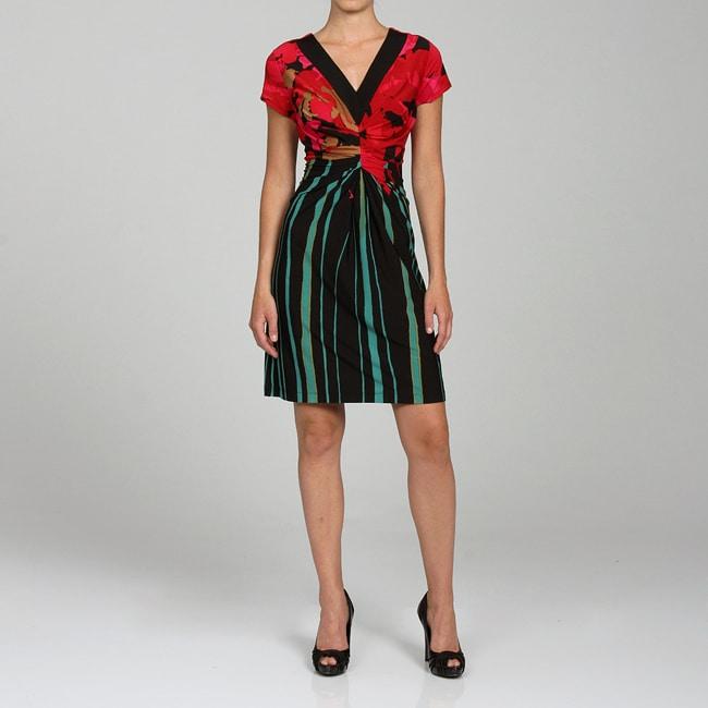 Ronni Nicole Women's Printed V-neck Dress