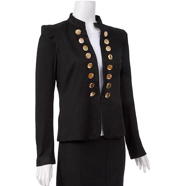 Naomi Women's Stretch Knit Military Jacket