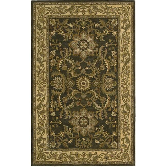 Nourison Hand-tufted Caspian Green Wool Rug (3'6 x 5'6)