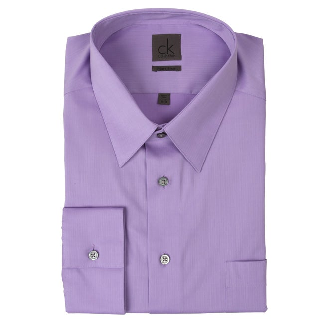 115efdf0ad Shop Calvin Klein Men's Dress Shirt - Free Shipping On Orders Over $45 -  Overstock.com - 4838569