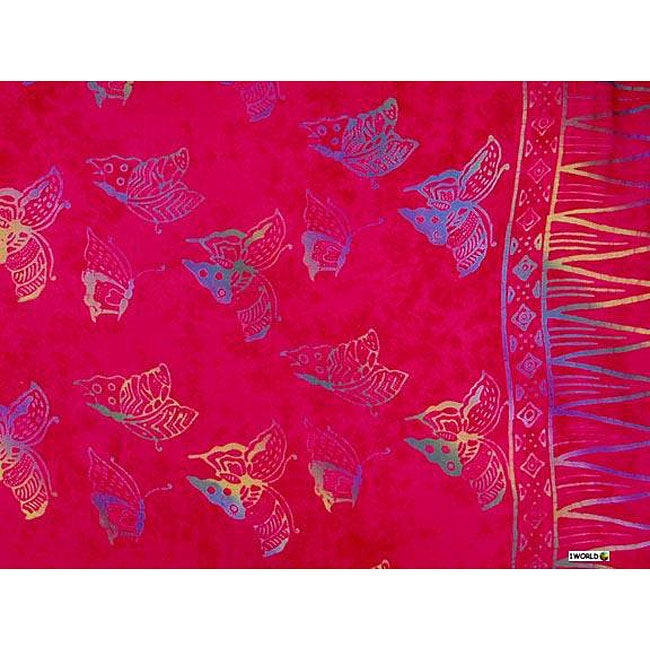 Butterfly Pink Sarong (Indonesia)
