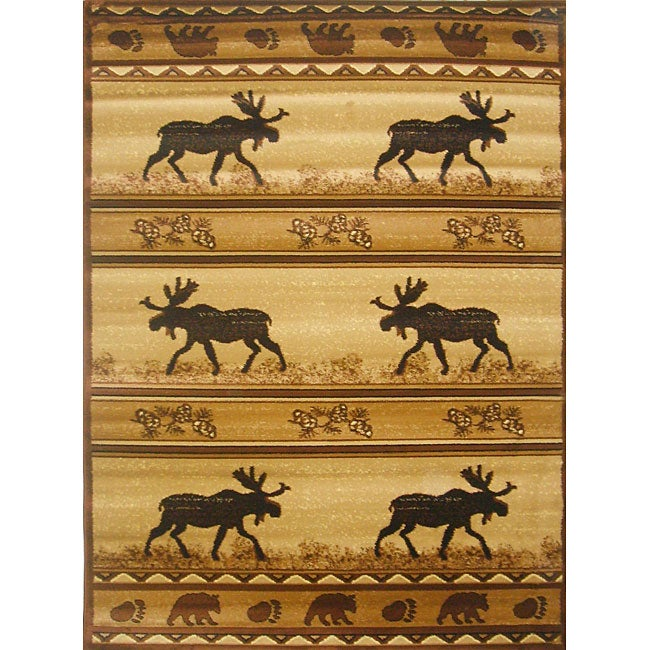 The Lodge Moose Southwestern Rug (4' x 6')
