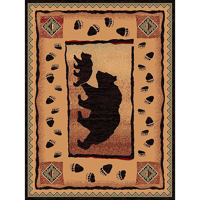 The Lodge Two Bears Southwestern Rug (4' x 6')