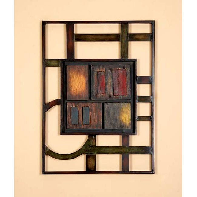 Geometric Modern Metal Abstract Wall Art