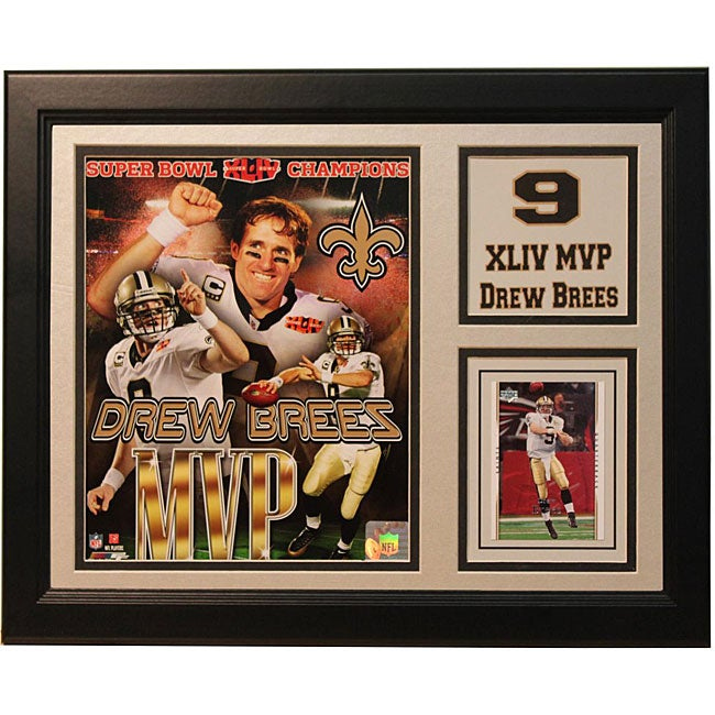 Super Bowl XLIV Champion New Orleans Saints Drew Brees 11x14 Framed Photo