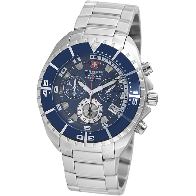 Swiss Military Hanowa Men's Blue Chronograph Sealander