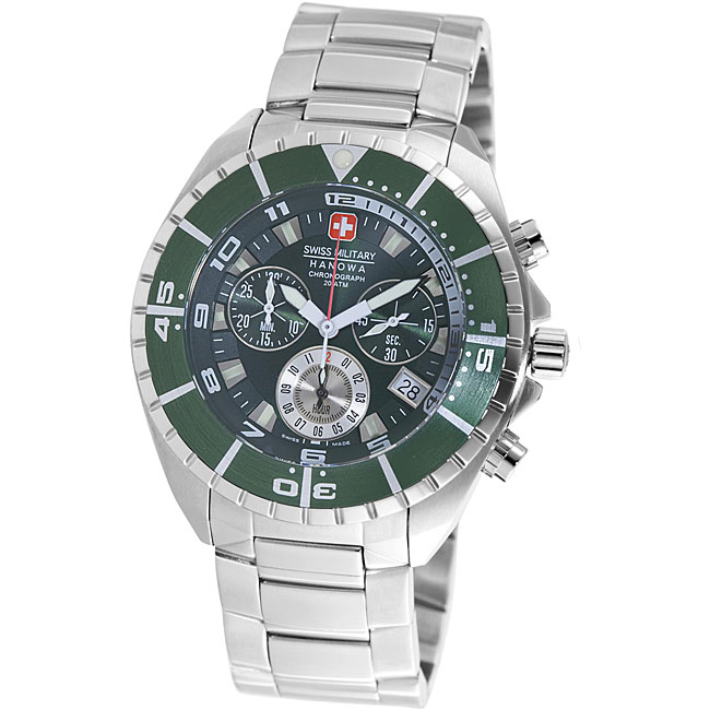 Shop Swiss Military Hanowa Men s  Sealander  Chronograph Divers Watch -  Free Shipping Today - Overstock - 4844660 db5f0be182