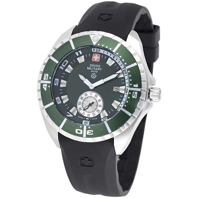 Swiss Military Hanowa Men's 'Sealander' Green Bezel Rubber