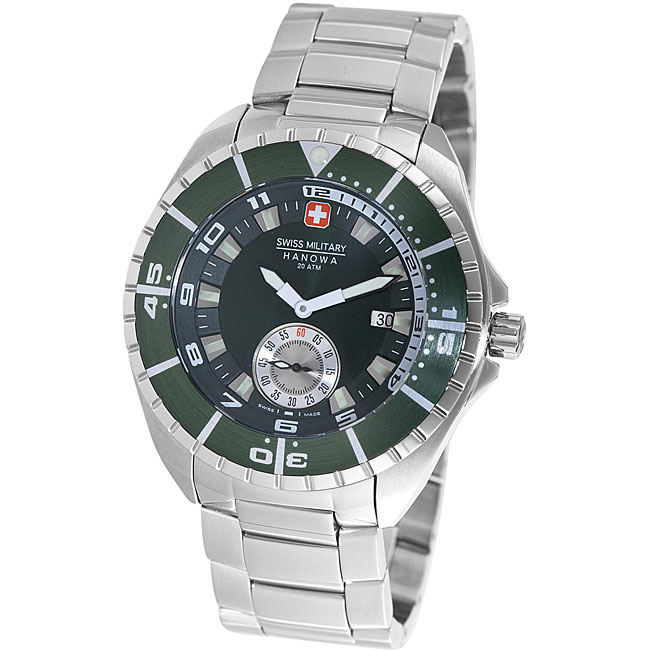 Swiss Military Hanowa Men's 'Sealander' Green Dial Divers