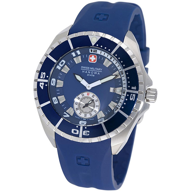 Swiss Military Hanowa Men's 'Sealander' Blue Rubber Strap