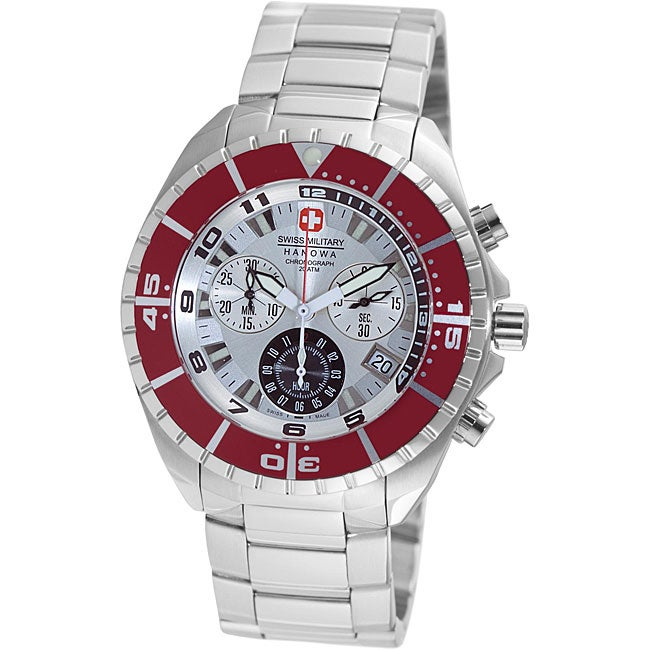 Swiss Military Hanowa Men's 'Sealander' Red Bezel