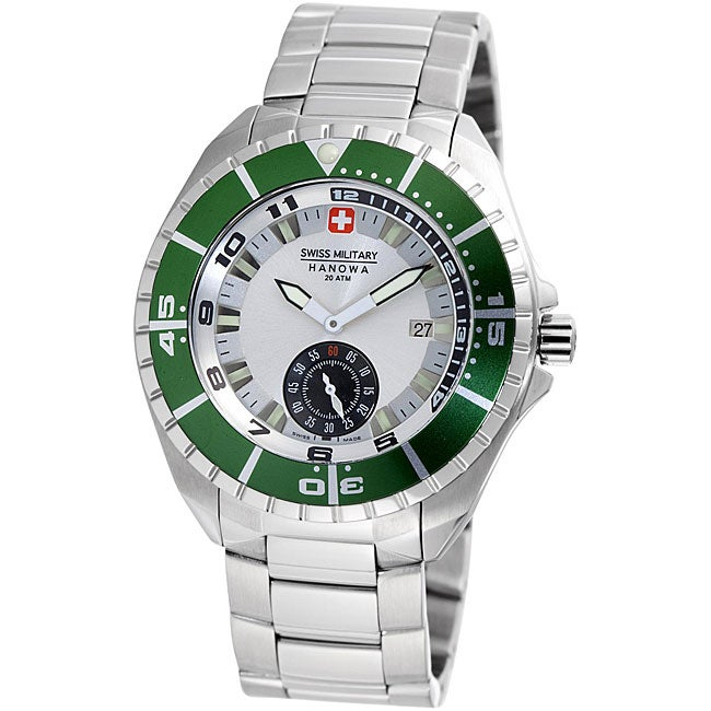 Swiss Military Hanowa Men's 'Sealander' Green Bezel Divers