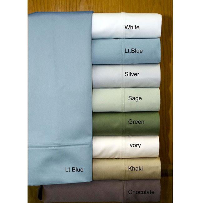 Egyptian Cotton Sateen 1000 Thread Count Queen-size Sheet Set