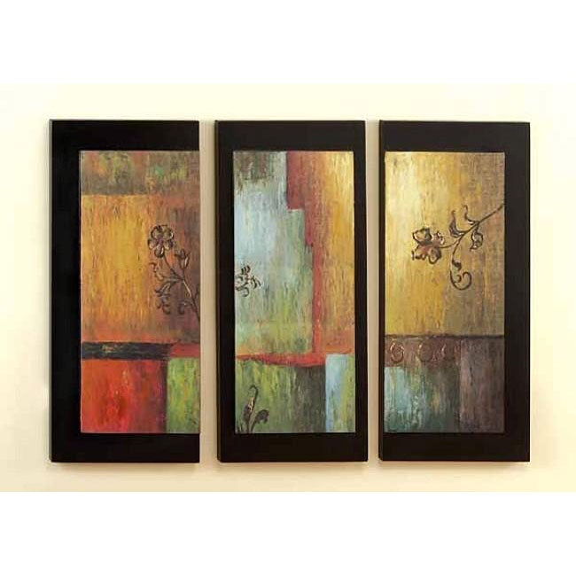 multicolor modern wood abstract wall art decor plaques. Black Bedroom Furniture Sets. Home Design Ideas