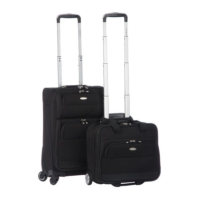 Samsonite 2-piece Black Carry-On Spinner Luggage Set