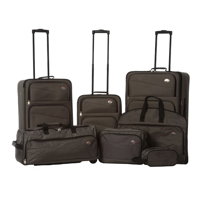 Shop American Tourister Charcoal 7 Piece Luggage Set