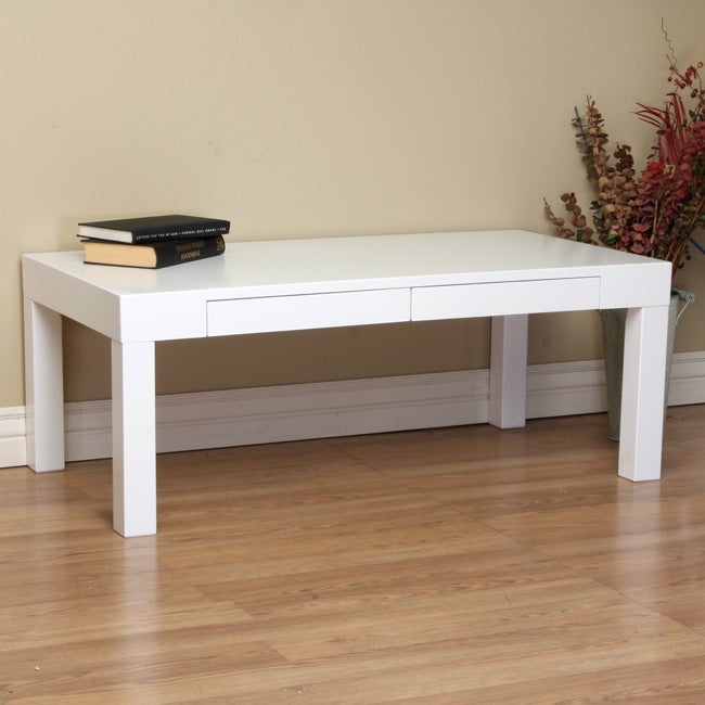 Overstock White Coffee Table.Lachlan Glossy White Coffee Table
