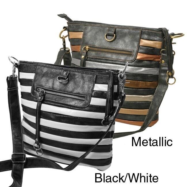Je Veux Striped 'Tubular' Handbag