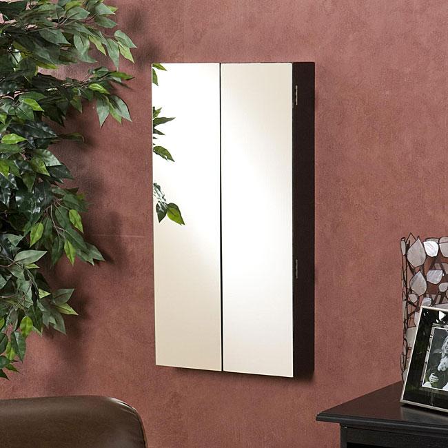 Mirrored Double-door Wall-mount Jewelry Box