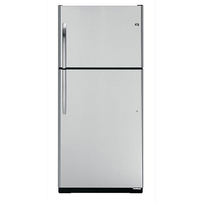 GE 18-cubic-foot Stainless Steel Top-freezer Refrigerator
