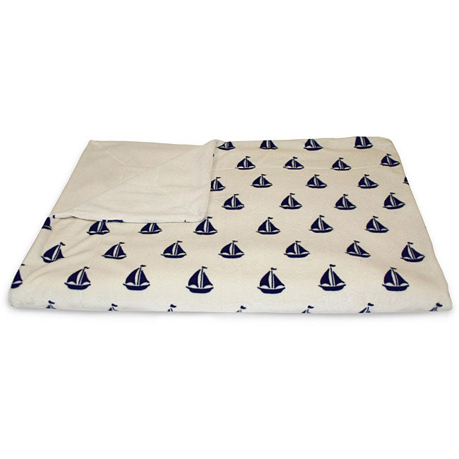 Ahoy Sailboat Microluxe Throw