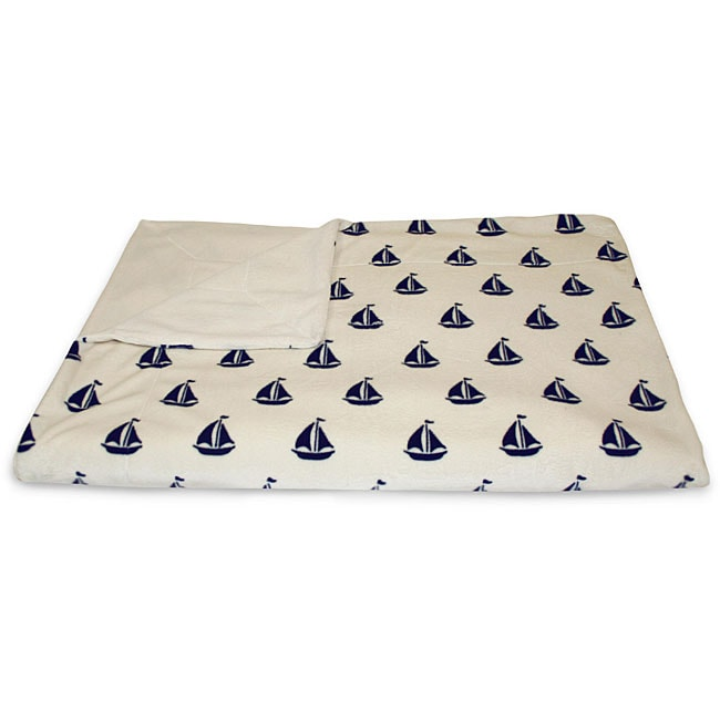 Ahoy Sailboat Microluxe Throw - Thumbnail 0