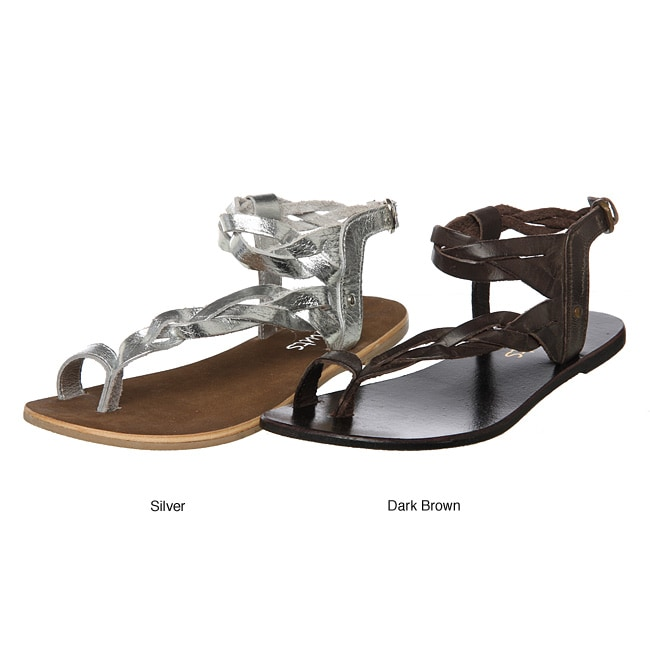 8828966e44f4e0 Shop Coconuts Women s  Hope  Braided Leather Thong Sandals - Free Shipping  On Orders Over  45 - Overstock.com - 4852411