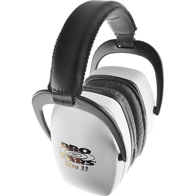 Pro Ears Ultra NRR 33 White Ear Muffs