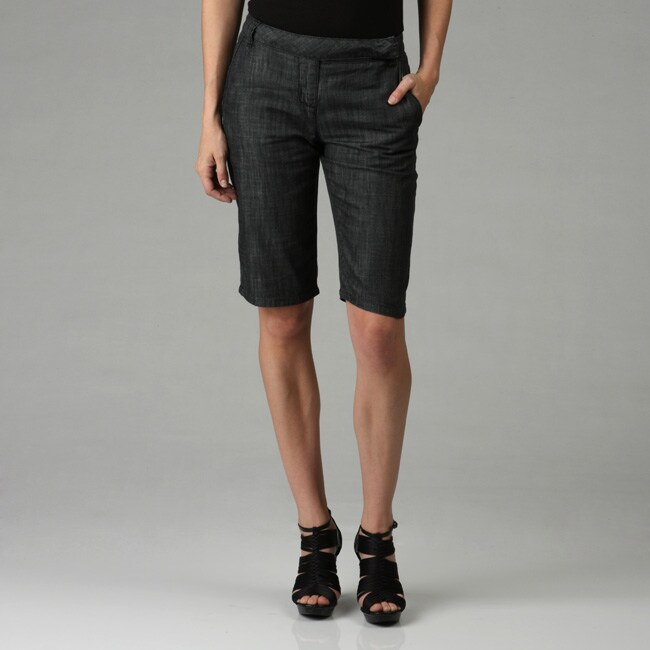Kensie Denim Women's Dressy Bermuda Shorts - Free Shipping On ...