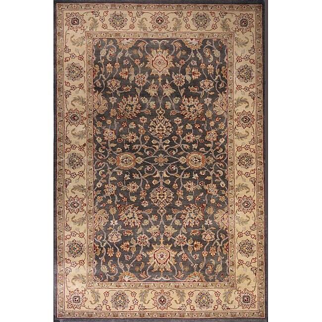 Hand-sheared Sultan Grey Wool Rug (5'6 x 8'6)