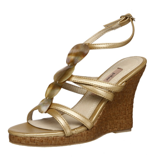 d87c2c9c59f Shop Pilar Abril Women s  Sirenta  Wedge Sandals - Free Shipping On Orders  Over  45 - Overstock - 4858907