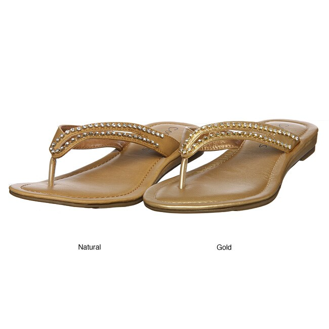 Coconuts Women's 'Saturn' Jeweled Thong Sandals