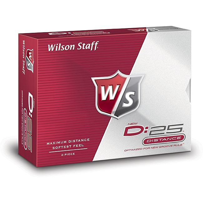 Wilson Staff D:25 Distance Golf Balls (Pack of 12)