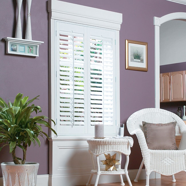 "White Fauxwood Shutters 27"" (fits up to 29"" window) x 54"""
