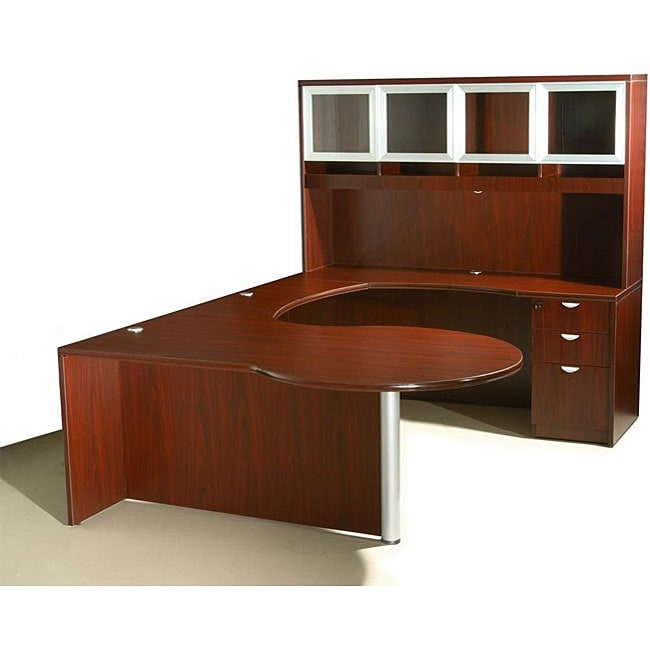 Boss Curved Series Right Return P Workstation Desk