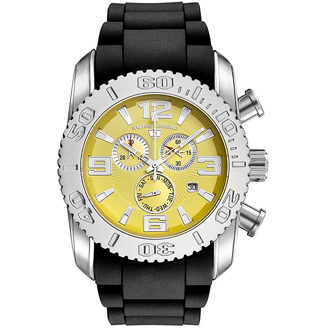 Swiss Legend Men's Steel Commander Yellow Dial Chronograph Watch - Thumbnail 0
