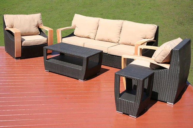Barcelona 5-piece All-weather Wicker Patio Furniture Set