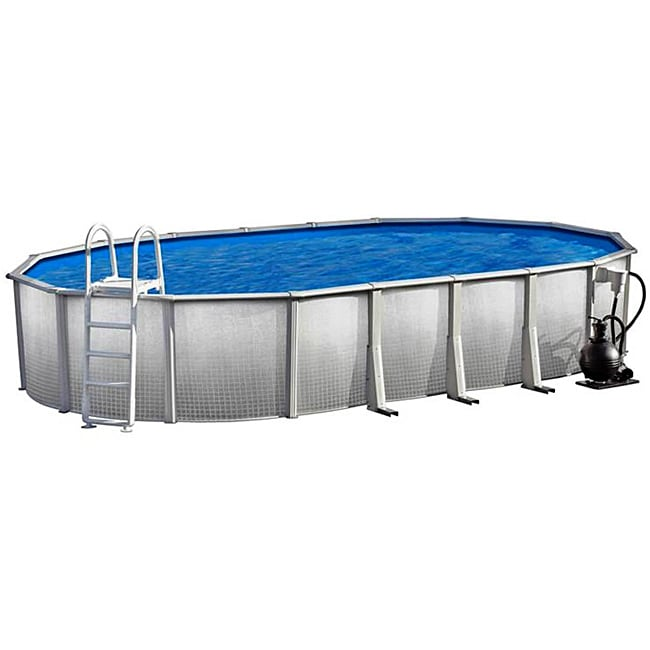 Discovery above ground 15x30 foot oval swimming pool for Above ground pool packages cheap