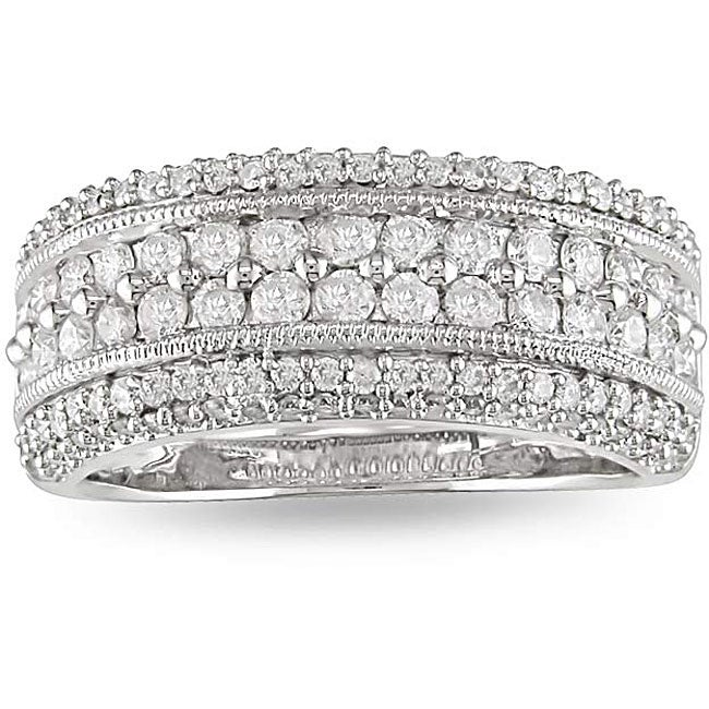 14k White Gold 1ct TDW Diamond Fashion Ring