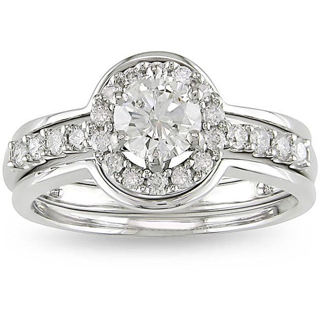 14k White Gold 1ct TDW Diamond Ring Set (G-H, I1-I2)