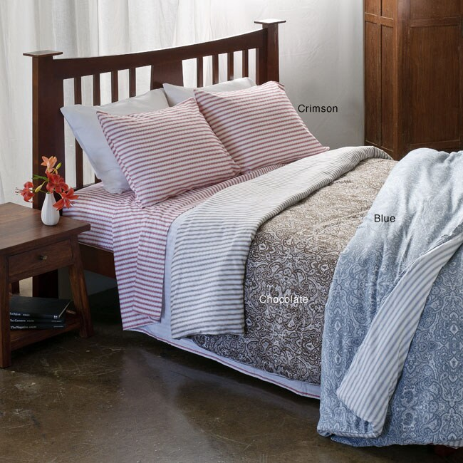 Anti Pill Heritage Flannel Striped 4 Piece Sheet Set Free Shipping On Orders Over 45 4865631