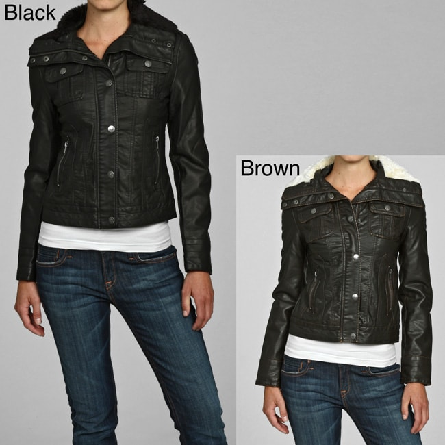 99f71f66ad3e7 Shop Miss Sixty Women's Faux Leather Trimmed Bomber Coat - Free Shipping On  Orders Over $45 - Overstock - 4865764