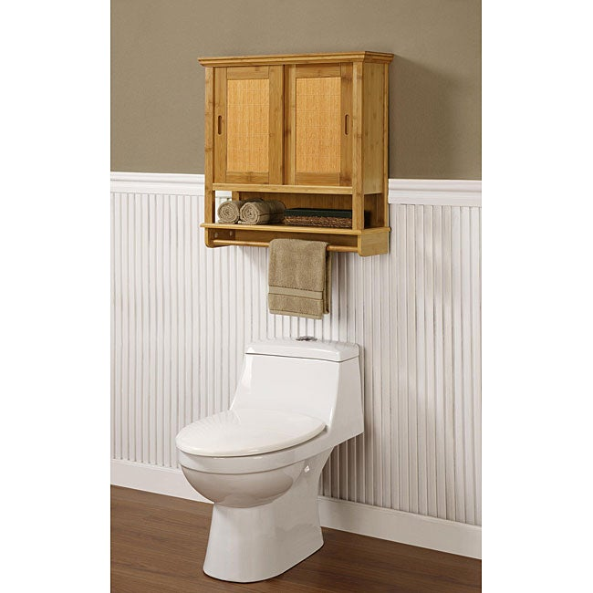 Altra Bamboo Wood Wall Cabinet Free Shipping Today