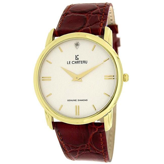 Le Chateau Men's Classica Diamond-accent Watch