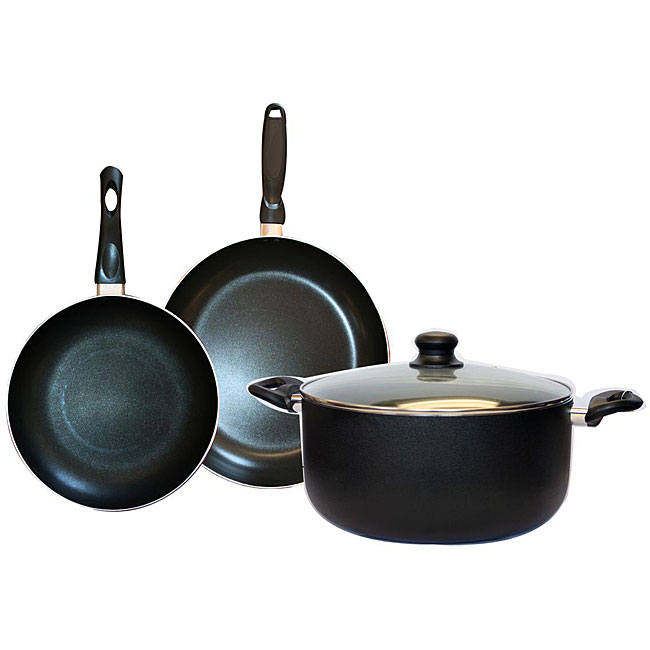 Alpine cuisine 4 piece aluminum nonstick cookware set for Alpine cuisine ceramic cookware