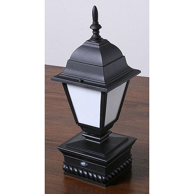Lighted Coach Lamp Rope-base Fence Post Cap