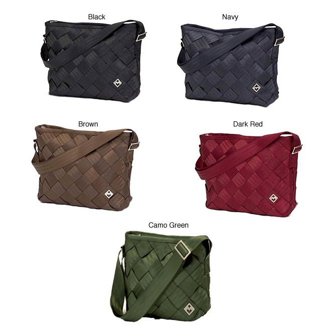 7e2f22379 Shop Maggie Bags Recycled Seatbelt Large Messenger Bag - Free Shipping  Today - Overstock - 4869839
